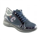 CallagHan Camina Azul Patent Leather Suede